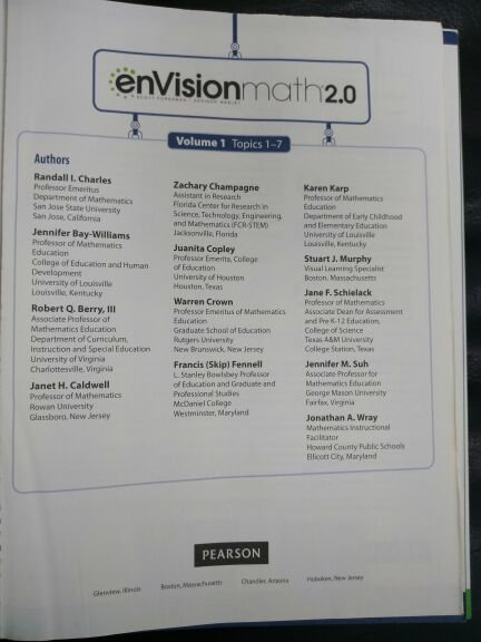 Envision Math 2 0 4th Grade Volume # 1 (Missing Pages) for Sale in  Manchester, CT - OfferUp