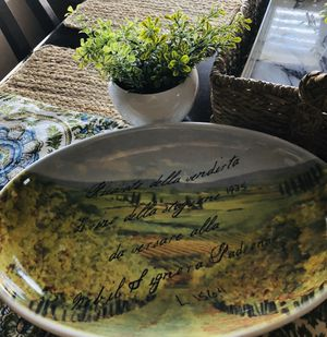ITALIAN OVAL SERVING PLATTER for Sale in Grover Beach, CA