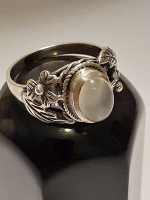 $30! Beautiful 925 sterling silver moonstone ring size 7 for Sale in Tacoma, WA