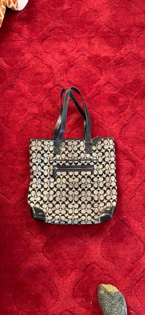 Coach tote signature canvas for Sale in Henderson, NV