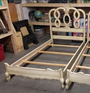 French Provincial Style Twin Size Wood Bed Frame (1 of 2) for Sale in Syracuse, NY
