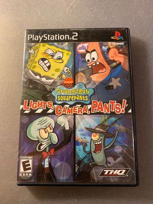 Spongebob lights camera pants playstation 2 ps2 for Sale in Garden Grove, CA
