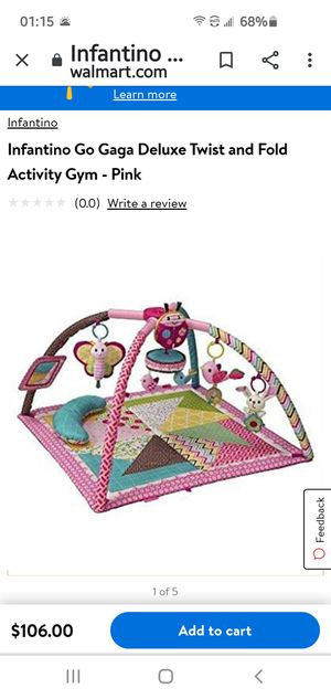 Baby Go Gaga Delux Twist and fold activity gyn and play mat for Sale in Garden Grove, CA