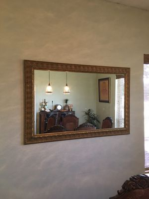 Very Large Gold Carved Mirror for Sale in Haslet, TX
