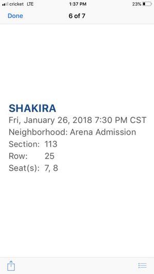 Shakira tickets for Sale in Weslaco, TX