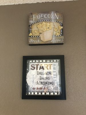 Movie room framed picture decor for Sale in March Air Reserve Base, CA