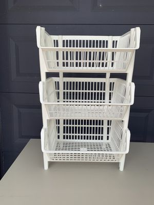 Stackable plastic organizers for Sale in Fort Lauderdale, FL