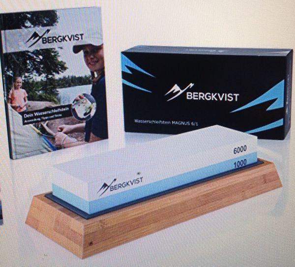 Bergkvist knife water sharping stone 1000 6000 asking 25.00 new in box