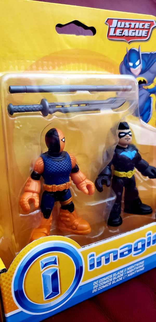 DC Comics Collectibles Imaginext Justice League SLADE & NIGHTWING Figure Toy Target Only Exclusive Fisher-Price Batman @2014