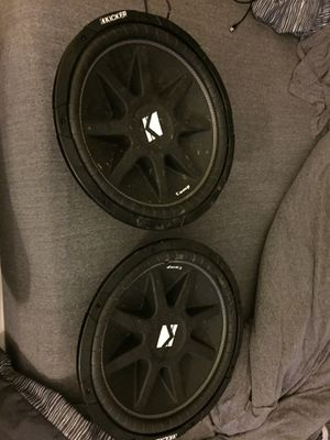 12 inch subwoofer kicker comp 4OHM for Sale in Pawtucket, RI