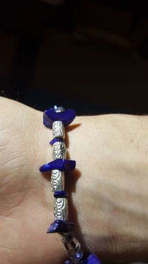 Silver and Royal Blue rock Bracelet for Sale in Portland, OR