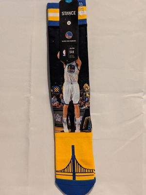 NBA Stephen Curry Klay Thompson Golden State warriors basketball socks size large for Sale in South Williamsport, PA
