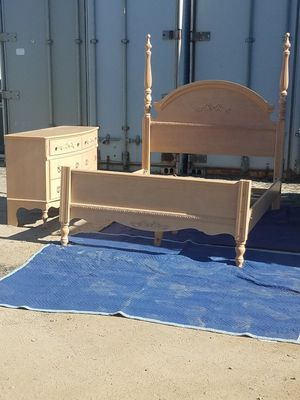 Double bed frame / dresser for Sale in Lake Elsinore, CA