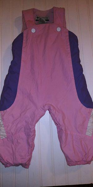 Columbia Omni Shield baby girl 18M Zipper Legs fleece lined bib snow overall for Sale in Tacoma, WA