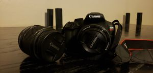 Canon t6 DSLR w/ 2 lenses for Sale in Peoria, AZ