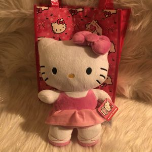 "NWT Hello Kitty Plush 11.5"" & Bag Sanrio for Sale in Lancaster, CA"