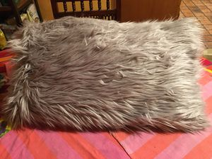 Large Grey Furry Accent Pillow. for Sale in Altadena, CA