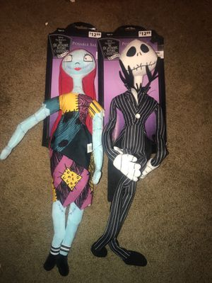 Posable jack and sally nightmare before Christmas for Sale in Oakland, CA