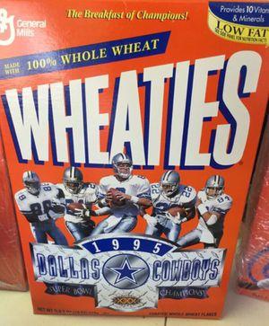 1995 Dallas Cowboys Super Bowl Wheaties box for Sale in Grapevine, TX