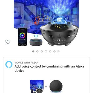 Star Projector, Yamla Smart Galaxy Light Projector Works with Alexa, Google Assistant, 16 Million Colors Phone App Remote Control, Night Light Project for Sale in Gaithersburg, MD