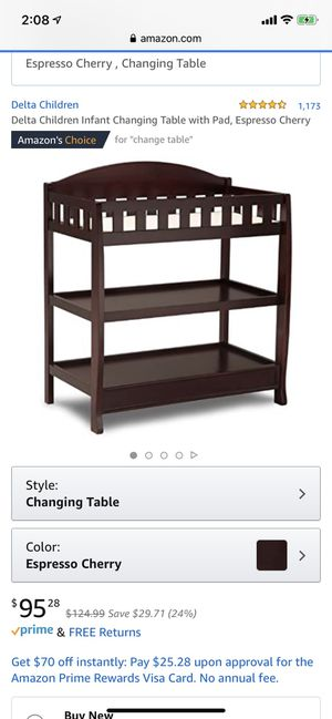 Changing table with pad for Sale in El Paso, TX