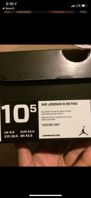 Jordan playoff 8..brand new! Size 10.5 men for Sale in Oakland, CA