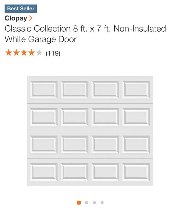 Clopay White Traditional Garage Door 8ftx7ft