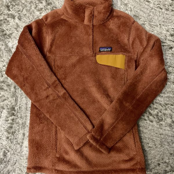 NEW Patagonia Rust ReTool Snap T Pull Over Sweater Fleece Top Womens XS