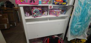 Twin size white bookcase headboard $49.99 for Sale in Phoenix, AZ