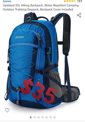 Updated 35L Hiking Backpack, Water Repellent Camping Outdoor Trekking Daypack for Sale in Chino, CA