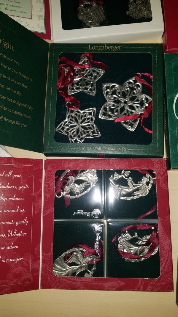 Longaberger Christmas Tree collectible ornament sets