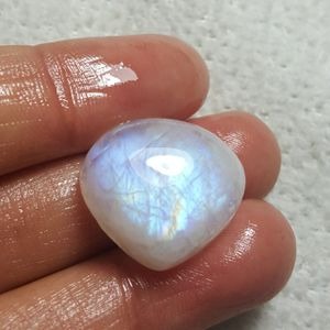 Stone: White Rainbow moonstone Natural Gemstone Cabochon Item no: WRL-18-04/STK-33 Stone size: 18.5 x 20 x 7.5mm *Shipping Only* for Sale in Queens, NY