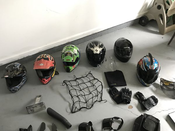 Motorcycle/dirt bike gear accessories. Message for prices