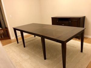 10 Person Dining Table/Cabinet Double Leaf for Sale in Stroudsburg, PA