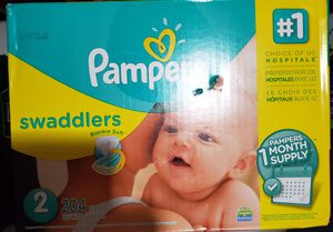 Pampers swaddlers # 2 204 diapers for Sale in Lynn, MA