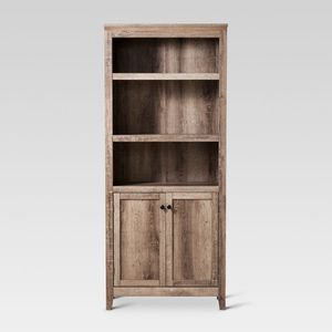 """72"""" Carson 5 Shelf Bookcase with Doors - Threshold™ 5 spacious shelves are great for storage or displaying items Bottom 2 shelves are hidden behind for Sale in Arcadia, CA"""