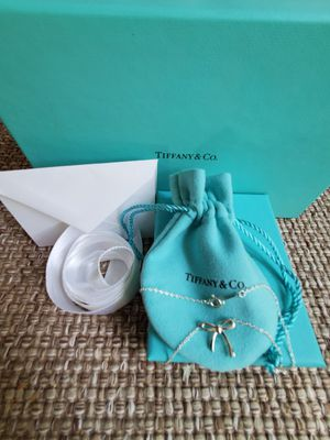 Tiffany & Co Sterling Silver Bow Necklace for Sale in Long Beach, CA