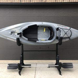 Sun Dolphin Excursion 10 Sit-in Fishing Kayak Gray Swirl, Paddle Included for Sale in Celina, TX