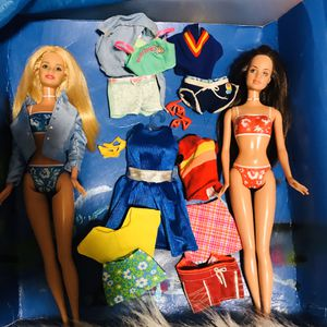 Barbie Duo w/ clothes 2 for Sale in Garland, TX