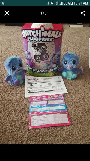 Hatchimal lot (2 twin peacats + 1 Draggle) for Sale in Sanford, FL