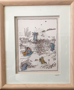Classic Winnie The Pooh Pin Set - Framed Limited Edition for Sale in Newark, CA