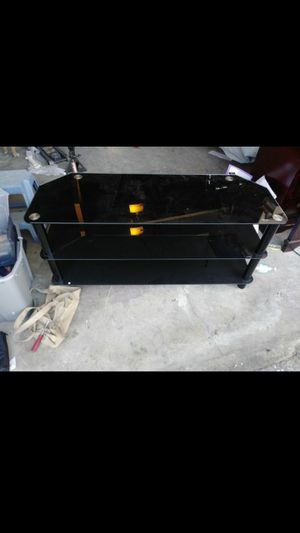 Glass tv stand for Sale in Hayward, CA