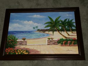 Large Acrylic Tropical Painting for Sale in Crofton, MD
