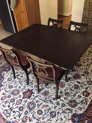 """Coffee Wood table - 42"""" wide/ 57"""" height for Sale in Manassas Park, VA"""