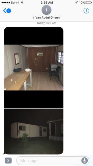 Office trailer one bed with bathroom 30 by 10 for Sale in Bryan, TX