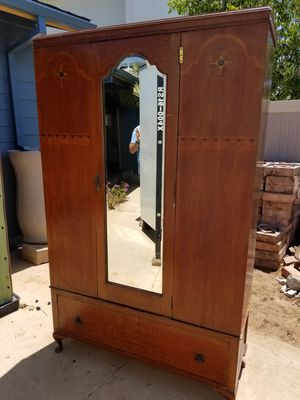 Antique Mirrored Armoire with Storage Drawer for Sale in San Diego, CA