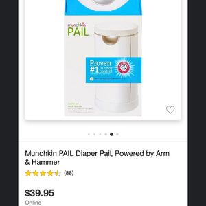 Munchkin Pail Diaper Can for Sale in Los Angeles, CA