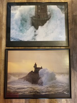 Lighthouse landscape photography pair for Sale in Frisco, TX