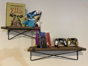 Pier1 Wooden shelves - pair of floating shelves, excellent condition for Sale in Chicago, IL