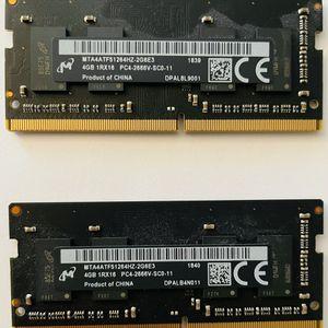 Genuine Apple 2 x 4GB SODIMM DDR4 2666MHz Memory Module for 2018-2020 iMac for Sale in Roseville, CA